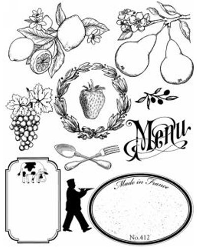 Artemio, Clear Stamp 1009 fruit/etiketten