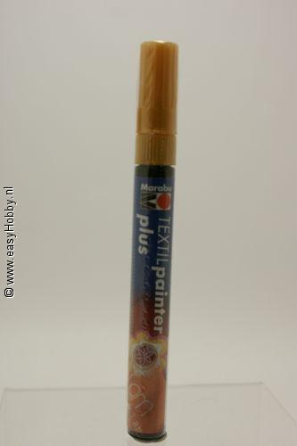Textielverfstift plus, Marabu,  goud (784)