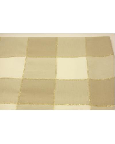 Rico handwerkstof 180cm br. kerstruit kleur beige/wit  per10cm