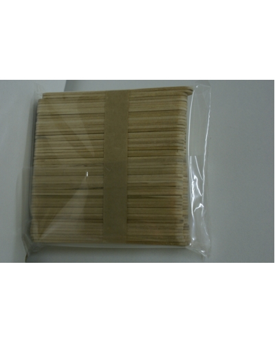 Knutselhoutjes/ijslolliestokjes, ca 100st 11,5x1cm