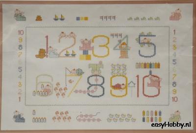 Borduurpakket Cijfers babykamer