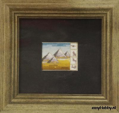 Egyptische motieven 2,  12x13cm
