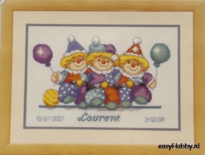 Geboortetegel, clowntjes