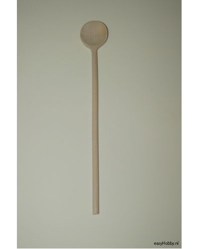 Houten kooklepel, 50 cm rond