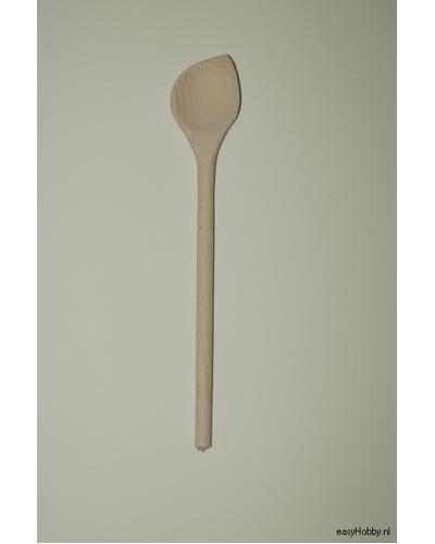 Houten kooklepel, 30 cm spits