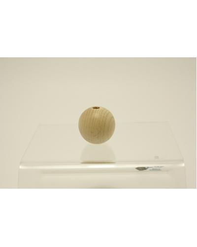 Houten Bal met gat,  25 mm /   per stuk