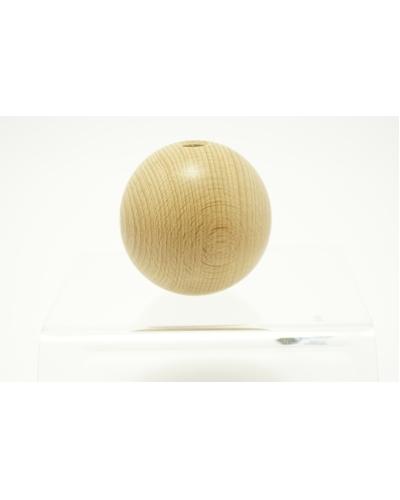 Houten Bal met gat,  50 mm  /   per stuk