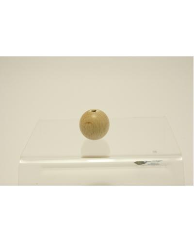 Houten Bal met gat,  20 mm /   per stuk