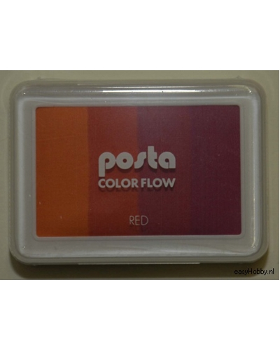 Stempelkussen color flow kleur rood