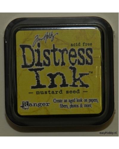 Stempelkussen Distress Ink kleur mosterd