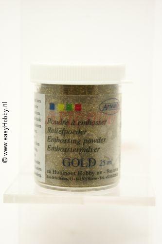Reliefpoeder kleur goud,  Artemio