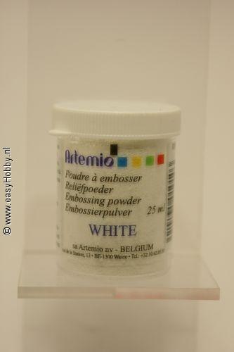 Reliefpoeder kleur wit,  Artemio