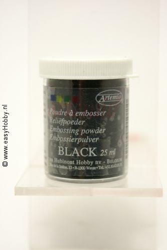 Reliefpoeder kleur zwart,  Artemio