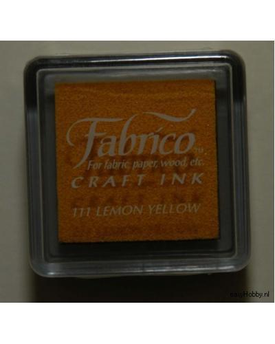 Stempelkussen Fabrico kleur 111, citroengeel