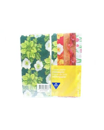 Zijdepapier ass. bloemen
