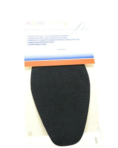 Elleboogstuk of kniestuk  kleur Marine, opstrijkbaar