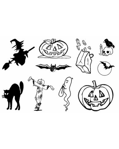 Crea Clear Stamp - Halloween
