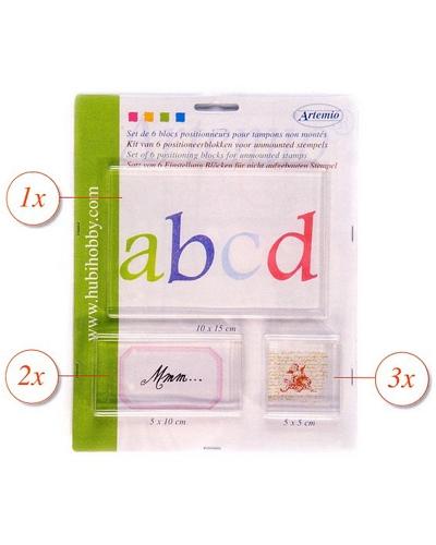 Set van 6 acryl blokken voor Clear Stamp