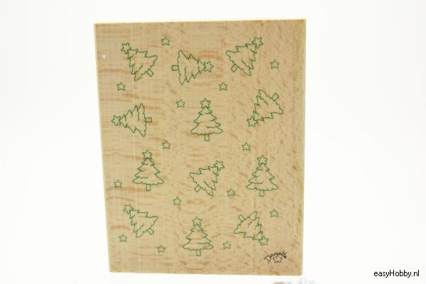 Stempel achtergrond kerstboompjes