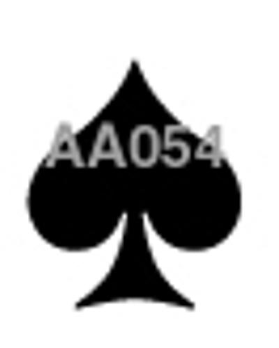 Stempel, kaartspel schoppen