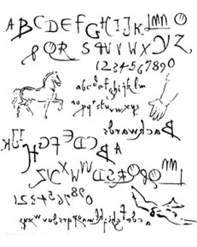 Stempel, Da Vinci alfabet