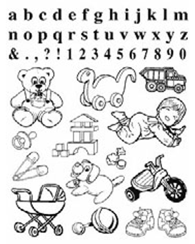 Crea Clear Stamp Baby