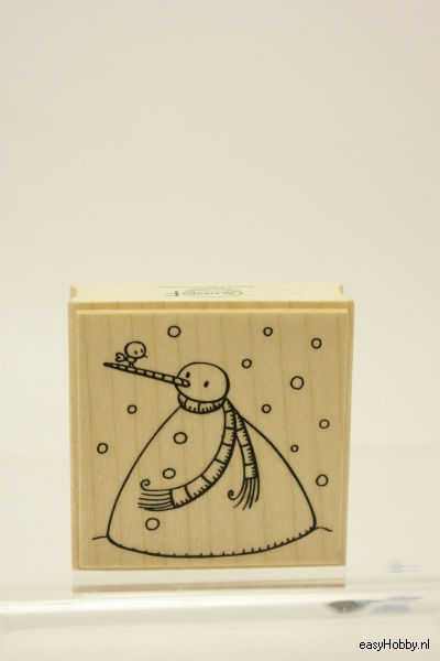 Stempel Sneeuwman met puntneus
