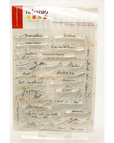 Artemio, Clear stamp Teksten