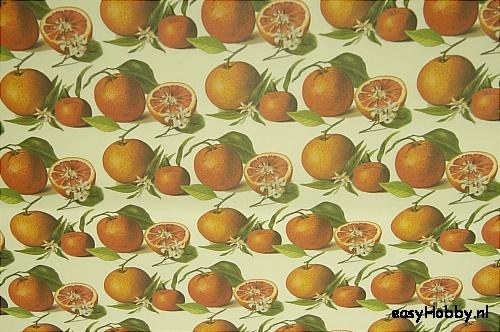 Italiaans boekbinderspapier Sinaasappelen