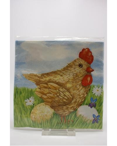 4 Servetten kip met eieren (53)
