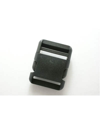 Parachutegesp zwart. 50 mm