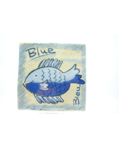 4 Servetten Blue poisson (31)