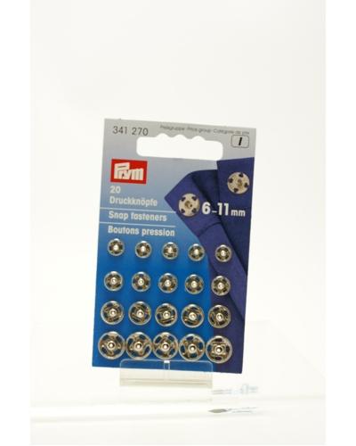 Prym, Metalen drukknoop 6 - 11 mm