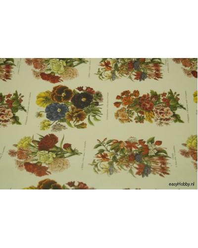 Italiaans boekbinderspapier bloemen