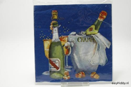 4 Servetten, Champagne (105)