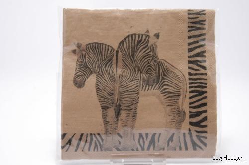 4 Servetten, Zebra's (240)
