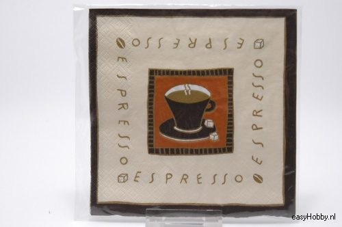 4 Servetten, Espresso (123)