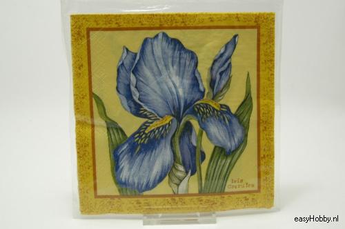 4 Servetten, Iris (155)