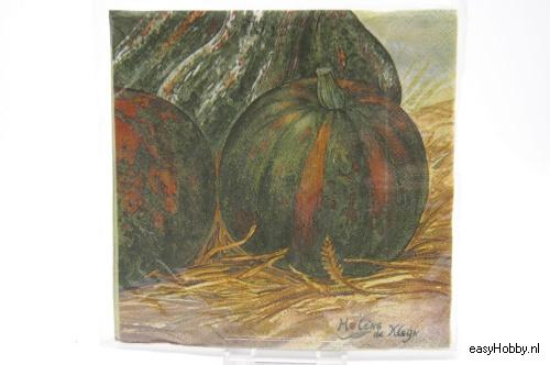 4 Servetten, Kalebassen (163)