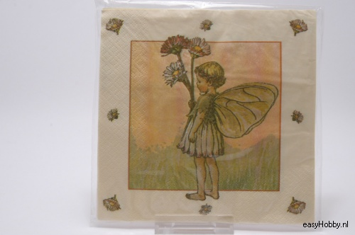 4 Servetten, Flower Fairy Madelief (131)