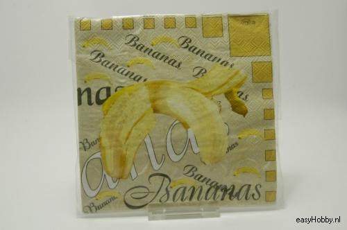4 Servetten, Bananen (80)