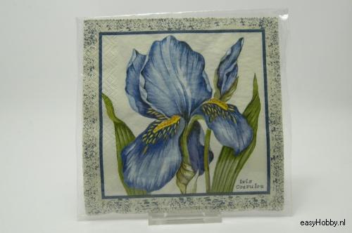 4 Servetten, Iris (156)