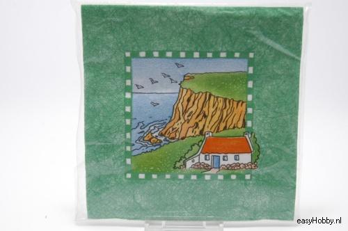 4 Servetten, Landschap (groen kader) (181)