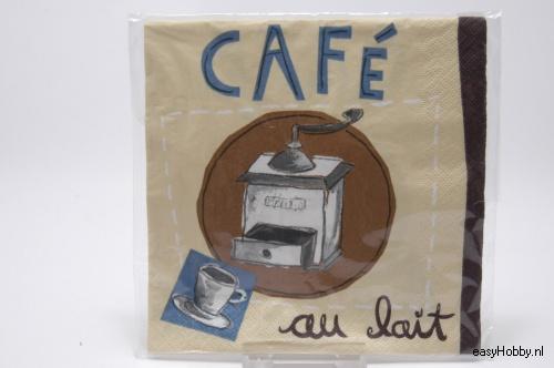 4 Servetten, Café (103)