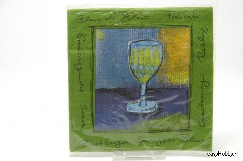 4 Servetten, Wijnglas (235)