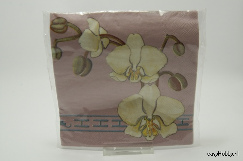 4 Servetten, Orchidee (197)