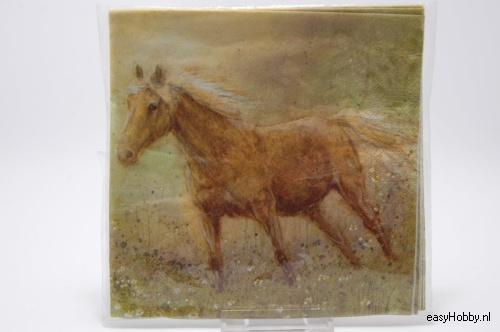 4 Servetten, Paard (198)