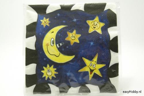 4 Servetten, Maan en sterren (188)