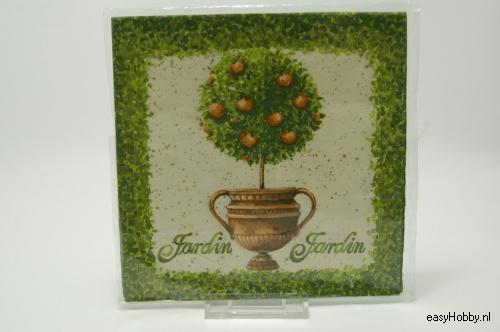 4 Servetten, Sinaasappelboompje (219)