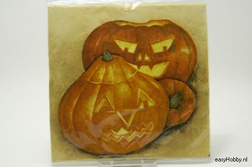 4 Servetten, Pompoenen halloween (211)